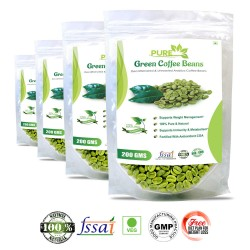 Pure Green Coffee Beans Supplement 200Gms (4 Pack)