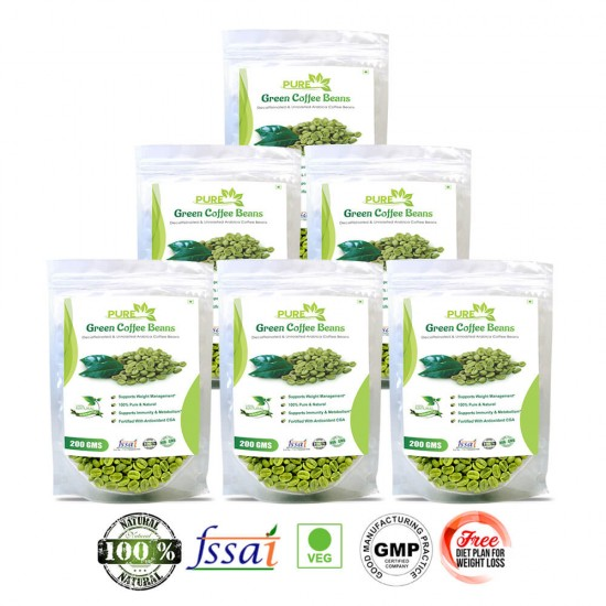 Pure Green Coffee Beans Supplement 200Gms (6 Pack)