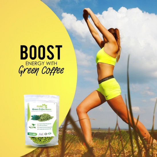 Simply Herbal Pure Green Coffee Beans with Fortified Antioxidant Arabica Quality (GCA) 50% For Weight Management Supplements - 100gms