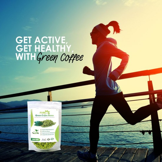 Pure Green Coffee Beans with Fortified Antioxidant Arabica Quality (GCA) 50% (For Weight Loss and Fat Burning Supplements) - 100gms