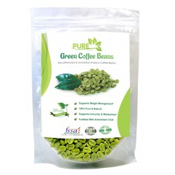 Simply Herbal Pure Green Coffee Beans with Fortified Antioxidant Arabica Quality (GCA) 50% For Weight Loss and Fat Burning Supplements - 100gms