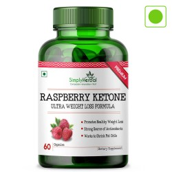 Simply Herbal Raspberry Ketones With Green Tea & Garcinia Cambogia (Weight Management & Reduce Body) - 800mg - 60 Capsules (1 Bottle)