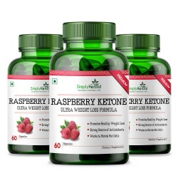 Raspberry Ketones With Green Tea & Garcinia Cambogia (Weight Loss & Reduce Body Fat) - 800mg - 60 Capsules (3 Bottles)
