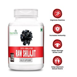 Simply Herbal Divya Himalayan Raw Shilajit 10Gm (100% Pure Rock Authentic Health Supplements) Original & Shudh High-Quality Rock Shilajeet (1 Bottle)