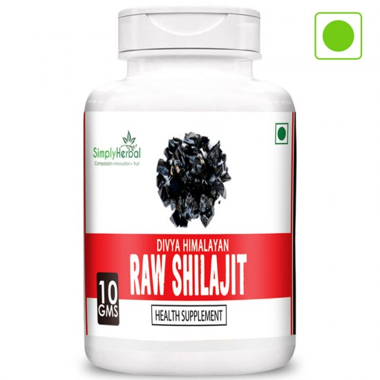 Divya Himalayan Raw Shilajit 10Gm (100% Pure Rock Authentic Health Supplements) Original & Shudh High-Quality Rock Shilajeet (3 Bottles)