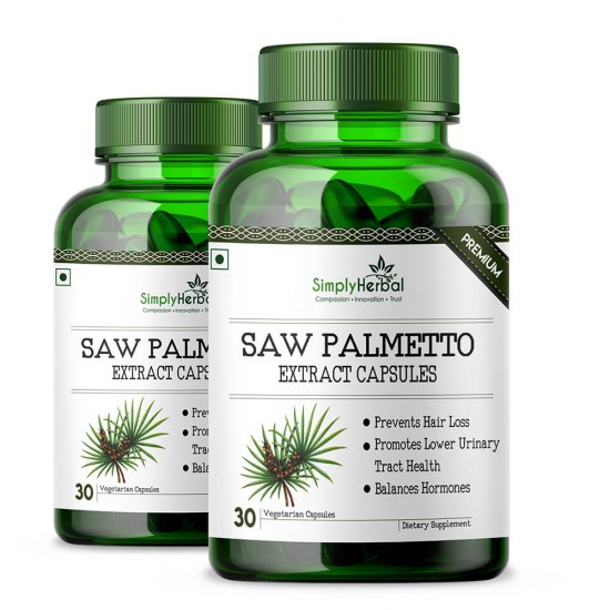 Saw Palmetto Extract 800mg - 30 Capsules (2 Bottles)