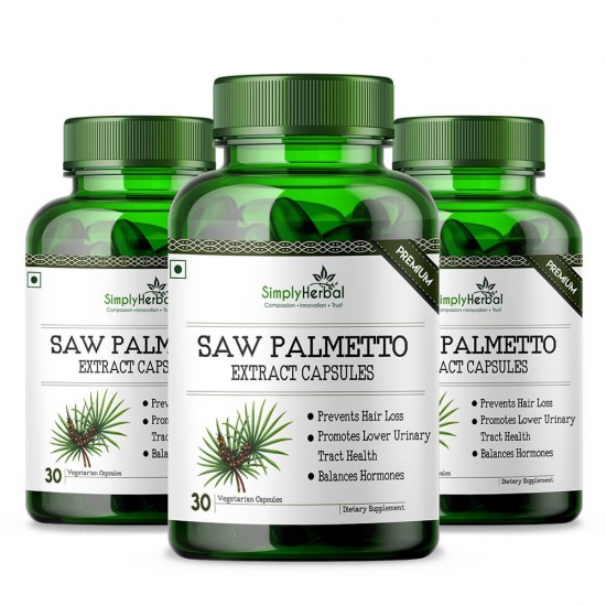 Saw Palmetto Extract 800mg - 30 Capsules (3 Bottles)