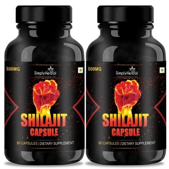 Shilajit Gold (Increase Energy, Stamina, Testosterone, Virility & Control Premature Ejaculation) - 800mg - 60 Capsules (2 Bottles)