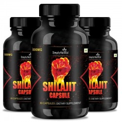 Shilajit Gold (Increase Energy, Stamina, Testosterone, Virility & Control Premature Ejaculation) - 800mg - 60 Capsules (3 Bottles)