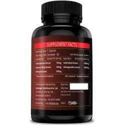 Simply Herbal Testosterone Booster With Pure Shilajit 60 Capsules