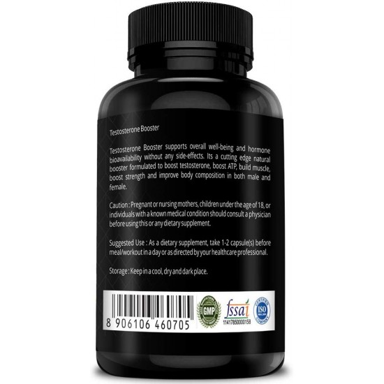 Testosterone Booster With Pure Shilajit 800Mg - 60 Capsules