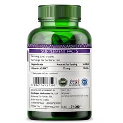 Vitamin K2 as MK7 Supplement - 60 Tablets (1 Bottle)