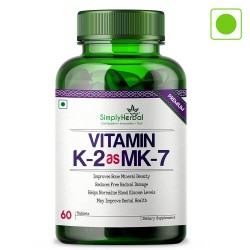 Premium Vitamin K2 as MK7 For Bone and Dental Health Supplements - 60 Tablets (1 Bottle)