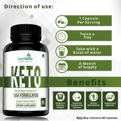 Keto USA Formulated Supplement 800mg - 60 Capsules (1 Bottle)