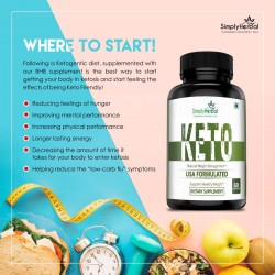Premium Keto-Diet Supplements - Supports Healthy Weight Loss - Ketogenic Fat Burner For Women and Men - 800mg - 60 Capsules (2 Bottles)