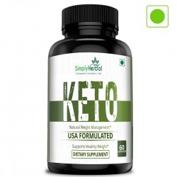 Simply Herbal Premium Keto-Diet Supplements - Supports Healthy Weight Management- Ketogenic For Women and Men - 800mg - 60 Capsules (1 Bottle)