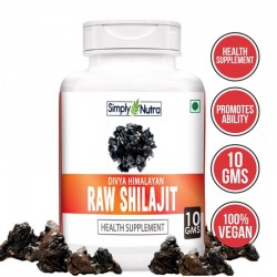 Divya Himalayan Raw Shilajit 10 Gm (100% Pure Rock Authentic Health Supplements) Original and Shudh High-Quality Rock Shilajeet