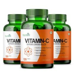 Vitamin C 1000mg High-Potency - 120 Tablets (3 Bottles)