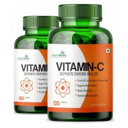 Vitamin C 1000mg High-Potency 120 Tablets (2 Bottles)