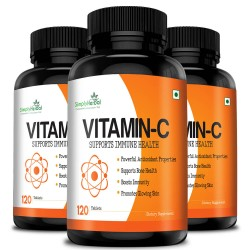 Vitamin C 1000mg High-Potency (Bone Health, Boost Immunity, Glowing Skin, Powerful Antioxidant) - 120 Chewable Tablets (3 Bottles)