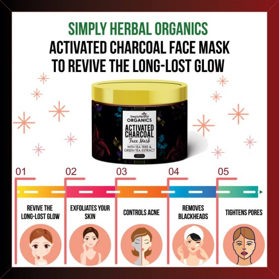 Organics Activated Charcoal Face Mask 100Gm
