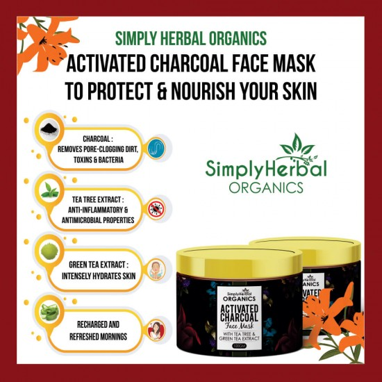 Simply Herbal Organics Activated Charcoal Face Mask
