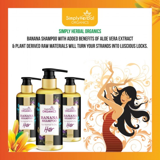 Simply Herbal Organics Banana Shampoo for Normal To Dry Hair
