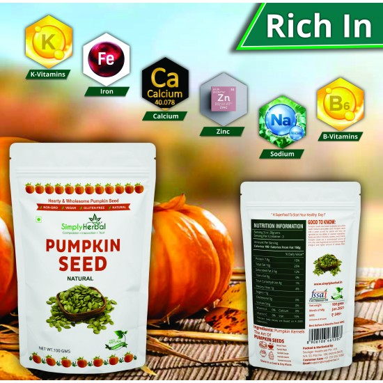 Simply Herbal Pumpkin Seed 100gms Pack