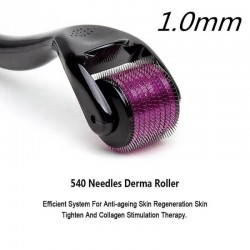 Microneedle Skin Derma Roller - 540 Micro 1.0mm Titanium Needles Best Skincare, Hair Regrowth and Reduce Wrinkles (for Men & Women)