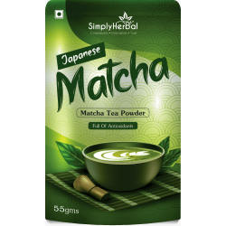 Simply Herbal Japanese Matcha Green Tea Powder - 55Gm (Lose Weight, Prevent Diabetes, Blood Pressure, Anti-aging Agent) - (1 Pack)
