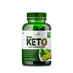 Simply Herbal Advance Keto USA Formulated Supplements with Green Tea, Garcinia Cambogia, Green Coffee & Guggal Extract - 1000mg - 60 Capsules (3 Bottles)